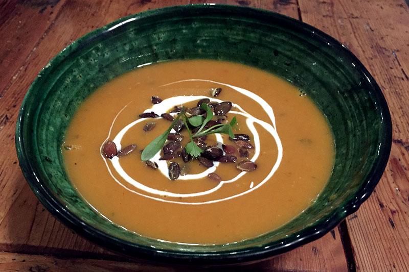 Spiced Butternut Squash and Crème Fraîche Soup