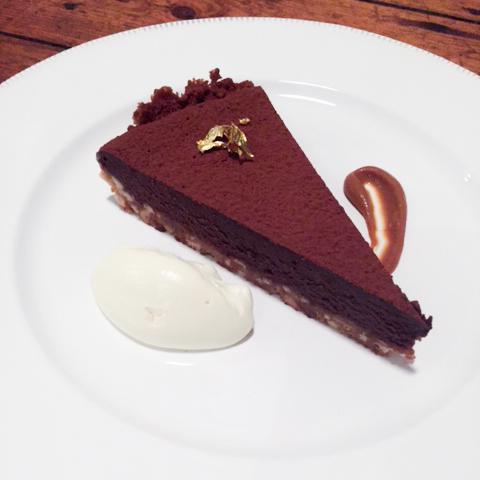 Chocolate, peanut and salted caramel tart - Aimee Hirsch